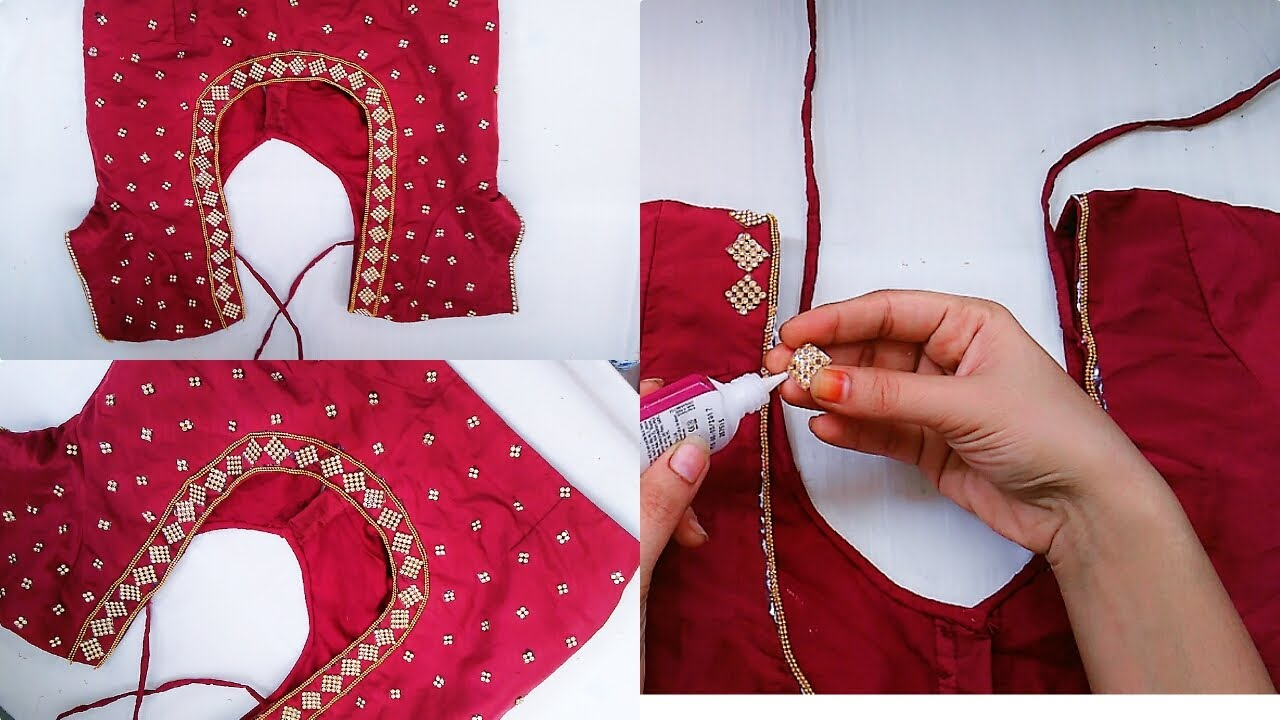 How To Make Designer Blouse At Home Stone Work Blouse